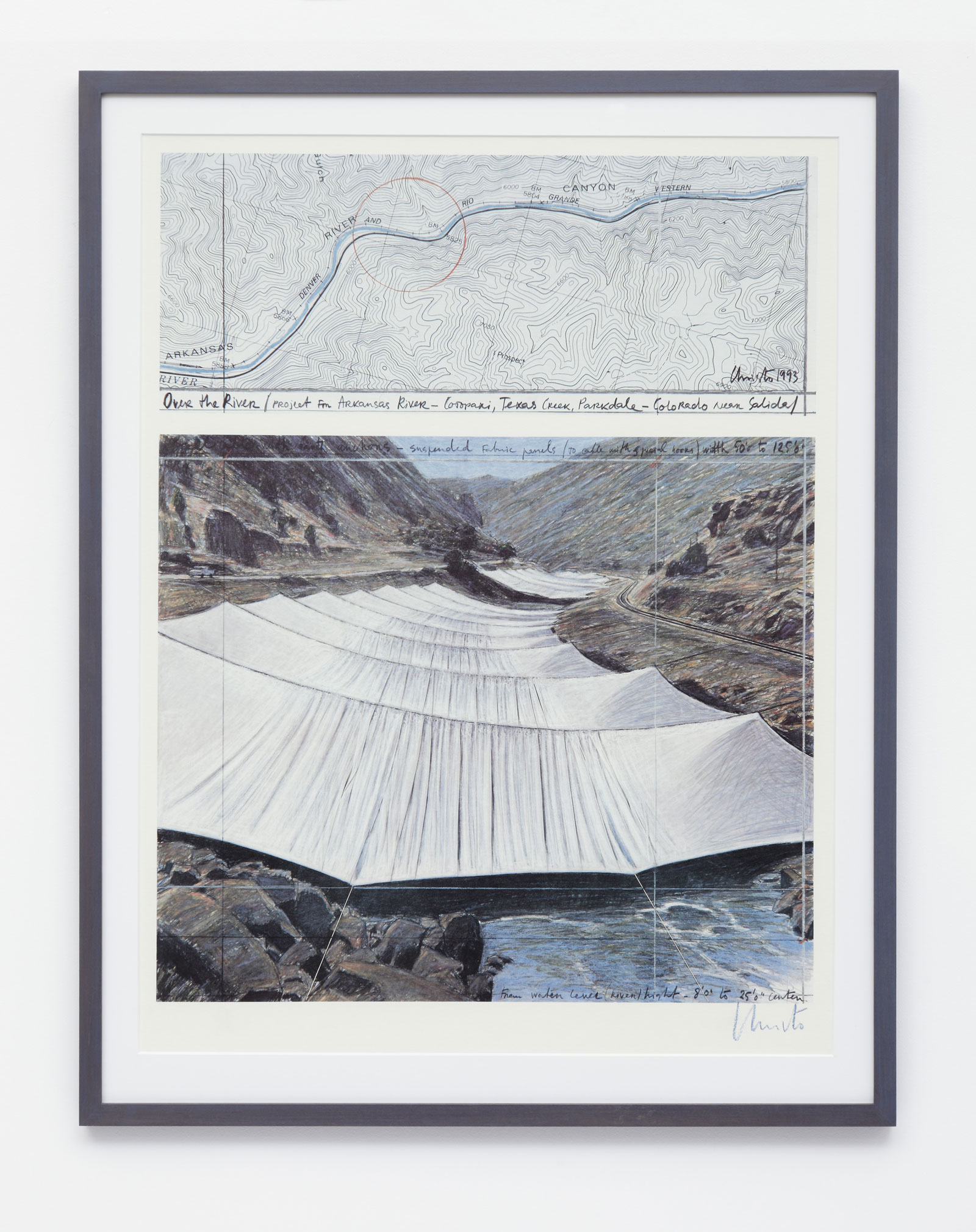 Christo - Over the River Above - 1993