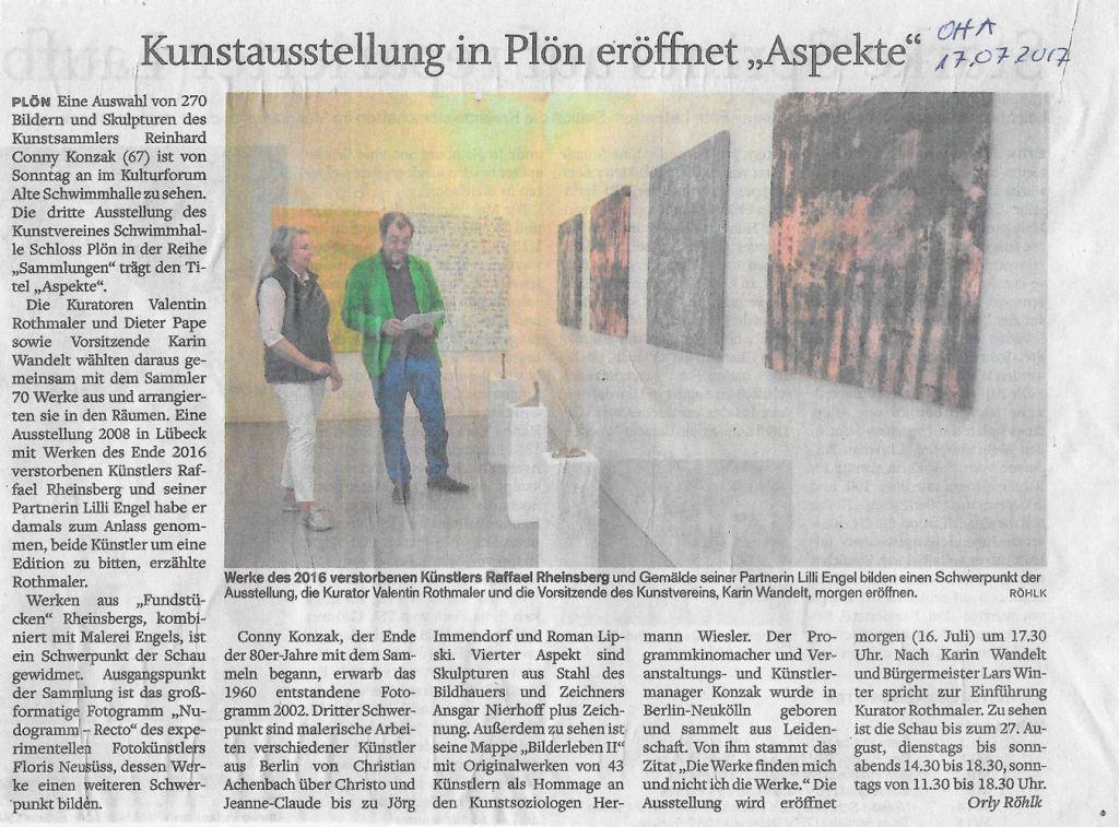 Ausstellung-Aspekte-Ploen_Presseecho_OHA_170717